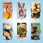 Funny Animal Wallet Case Cover for iPhone XS MAX XR X 8 7 6 6S Plus SE 5S 054