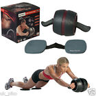 AB ROLLER WHEEL CARVER PRO EXERCISE ABDOMINAL FITNESS GYM EQUIPMENT ABS CORE UK