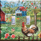 Rooster Farm Chicksl Light Switch Plate Wall Cover Tropical Decor