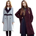 2NEFIT Korea Women's Clothes Double Coat Fashion Jacket Outerwear Windbreaker