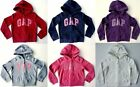 Girl GAP RED PINK GREY PURPLE BLUE Logo Hoodie Hooded Fleece Jacket 4-13y £22.95