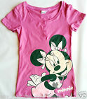 Official MINNIE MOUSE Pink Button Up T-Shirt - So Cute! Never to Old for Disney