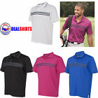 Brand New ADIDAS Men's Golf Clothing Chest Polo Shirts Stripes Men Clothing A124