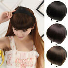 Girls Headband Hair Bangs Neat Fringe Hair Extensions Synthetic Hair Accessories