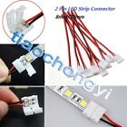 2-100X PCB Cable 2 Pin LED Strip Connector 3528/5050 Single Color Adapter Useful