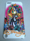 SOFT-FEEL SLIM BACK CASE COVER FOR APPLE iPOD TOUCH 5th GEN. - TATTOO DESIGNS