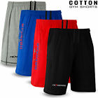Men Gym Shorts Cotton Workout Training Sports Running Jogging Excercise All Size