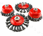 M14 Crew Twist Knot Wire Wheel Cup/Flat Brush Set for 3 Or 4 inch Angle Grinder