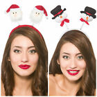CHRISTMAS HEADBOPPERS SANTA SNOWMAN FANCY DRESS HEADBAND HAT XMAS DELUXE BOPPERS