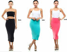 Basic sexy fitted Midi Skirt Bodycon Clubwear High Waisted Pencil Straight