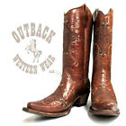 Circle G by Corral Women's Cognac Brown Embroidered Cowboy Boot 11B L5063