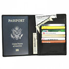 FancyStyle RFID Blocking Travel Passport Wallet Holder Genuine Leather Red Black
