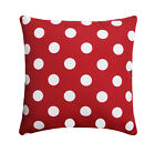 Red White Outdoor Pillow, Polka Dot Red Throw Pillow, Cherry Red Patio Pillow