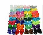 6 INCH GIRLS BIG HAIR BOWS HAIR CLIP PIN ALIGATOR CLIPS GROSGRAIN RIBBON  BOW