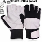 Weight Lifting Leather Gloves