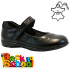 NEW GIRLS KIDS LEATHER INFANT CASUAL BLACK SCHOOL TRAINERS SHOES SIZE