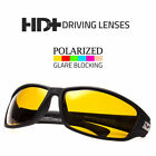 SPORT WRAP HD NIGHT DRIVING POLARIZED SUNGLASSES YELLOW HIGH DEFINITION GLASSES