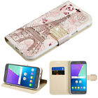 For Samsung Galaxy On5 G550 Leather BLING Flip Wallet Case Cover Pouch Eiffel