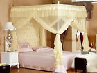 Yellow Princess Bedding Canopy Mosquito Netting Or Frame Twin Full Queen King