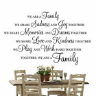 We are a family - Wall Art Quote Decal Sticker