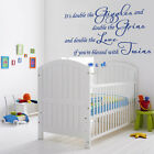 It's Double The Giggles - Children's Wall Decal Sticker baby nursey twins