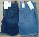 LEVI'S 525 PETITE SIZE PERFECT WAIST FADED DENIM BERMUDA SHORTS LIST $44