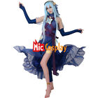 Fire Emblem Fates Conquest Azura Blue Cosplay Costume Stickers and Veil Included