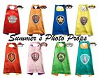 Paw Patrol Logo Cape and Mask Party Favors Superhero Capes