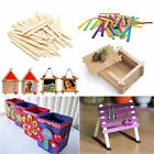 50Pcs Wooden Popsicle Sticks for Party Kids DIY Crafts Ice Cream Pop 11cm #6