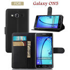 Magnetic Leather Card Packet Stand Flip Cover Case For SAMSUNG GALAXY On5 On7
