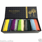 5 PAIRS COTTON RICH DESIGNER BERRY & WILSON MENS BRANDED CASUAL FORMAL SOCKS BOX