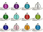 "Keep Calm And Glass Round Dome Silver Pendant 1"" 25mm Ball Chain"