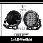 """185W 9"""" Round Cree Spot LED Work Offroad Light Jeep Truck 4WD SUV Fog Driving"""