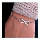 Infinite Bracelet for Men Women Accessories Jewelry Bracelets Bijoux Cute Silver