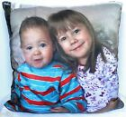 Personalised Photo Cushion Faux Suede Finish Gift Birthday Easter Mother's Day