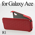 Faux Leather Back Cover Flip Case Skin For Samsung Galaxy Ace S5830