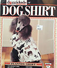 Dog Shirt, XL Flannel Shirt, Doggiduds Flannel Shirt for Dogs, Lined, Warm Coat