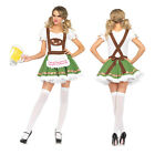 Womens Oktoberfest German Beer Costume Bar Maid Bavarian Wench Fancy Heidi Dress
