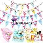 Paper Banners Flags Boy Girl 100 Days 1st Birthday Animal Bunting Baby Shower