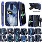 For LG K8 / LG Escape 3 / LG Phoenix 2 Case Holster Clip Stand Armor Blue Cover