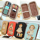 Women Girl Little Doll Pen Pencil Case Bag Stationery Makeup Cosmetic Cute Bag