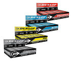 Dunlop Pro Squash Balls Double Dot Yellow & Intro Bue & Red Progress Competition
