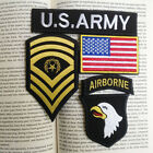 Sets U.S. Army 101st Airborne Division Military Rank Flag SETS Hook PATCH