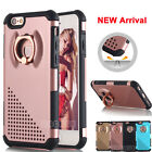 360° Rotating Shockproof Hard Case w/ Metal Ring Stand Cover Fr iPhone 6 6s Plus
