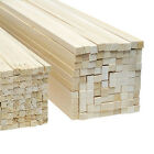 High Quality Jelutong Hardwood Wooden Strips (Packs of 5) - All Sizes