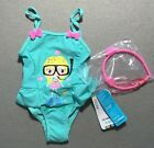 Infant Baby Girls Swimwear One Piece Swimsuit+Hairband Set 6-36month