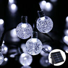 Bubble Beads LED Solar Power String Lights For Outdoor Garden Patio Party