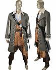 Pirates of Caribbean Hector Barbossa Outfit Full Set Halloween Cosplay Costume