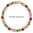 Luxury Women's Elegant Party Jewelry Colorful Zircon Stone Bling Chain Bracelet