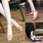 Women Elegant Comfort Buckle Pointy Toe Faux Suede Ankle Strap Flats Lady Shoes